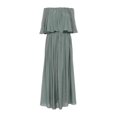 ブルネロ クチネリ BRUNELLO CUCINELLI ロングワンピース&ドレス グリーン XS シルク 100% ロングワンピース&ドレス