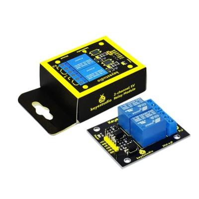 KeyStudio Arduino ARM PIC AVR DSP用2チャンネル5Vリレーモジュール
