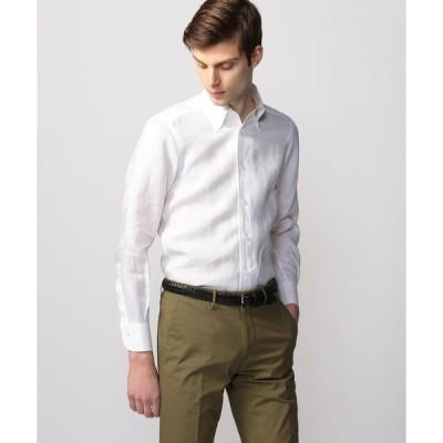 【TOMORROWLAND MENS】リネンシャンブレー ワンピースボタンダウン ドレスシャツ ONEPIECE−BD