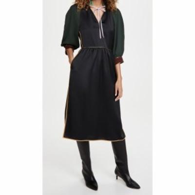 トリー バーチ Tory Burch レディース ワンピース ワンピース・ドレス Tie Neck Trapunto Dress Black