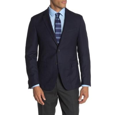 ボス メンズ ジャケット&ブルゾン アウター Dark Blue Birdseye Two Button Notch Lapel Wool Slim Fit Suit Separates Blazer DK BU