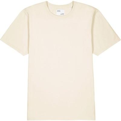 カラフルスタンダード COLORFUL STANDARD メンズ Tシャツ トップス Off-white cotton T-shirt White