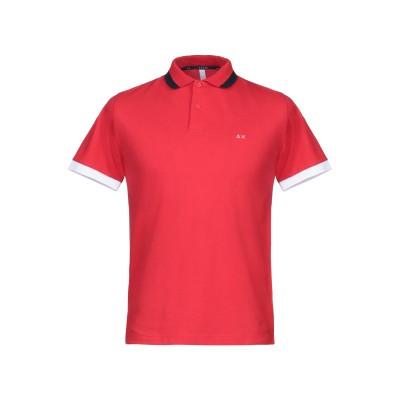 サンシックスティエイト SUN 68 ポロシャツ レッド S コットン 95% / ポリウレタン 5% ポロシャツ