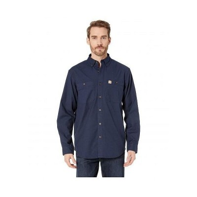 Carhartt カーハート メンズ 男性用 ファッション ボタンシャツ Rugged Flex(R) Rigby Long Sleeve Work Shirt - Navy