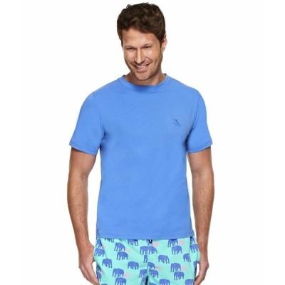 トムアンドテディ シャツ トップス メンズ Solid Short Sleeve T-Shirt Atlantic Blue