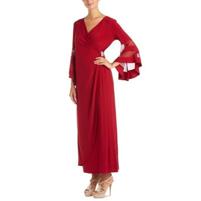 アールアンドエムリチャーズ レディース ワンピース トップス Illusion-Sleeve Gown