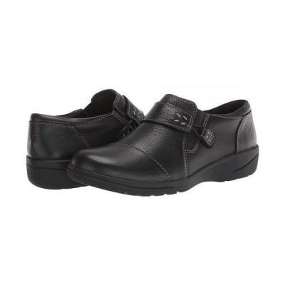 Clarks クラークス レディース 女性用 シューズ 靴 ローファー ボートシューズ Cheyn Onyx - Black Tumbled Leather