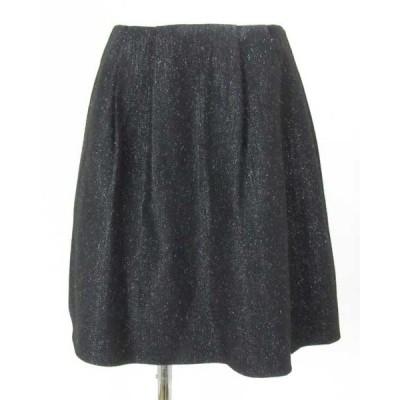 エムプルミエブラック M premier BLACK 黒ラメ入スカート 36