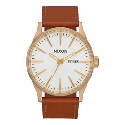 腕時計 ニクソン アメリカ Nixon Sentry Leather Watch Gold White Saddle 42mm