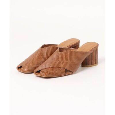 Xti Shoes / atelier brugge/アトリエブルージュ ウッドヒールクロスサンダル WOMEN シューズ > サンダル