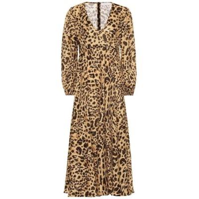 ジマーマン Zimmermann レディース ワンピース ワンピース・ドレス Veneto leopard-print linen dress Leopard