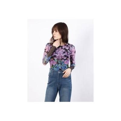 デシグアル Desigual Tシャツ長袖 DREAM GARDEN (ピンク/レッド)