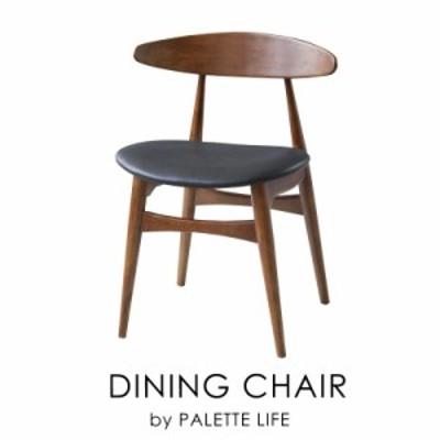 チェア 椅子 ダイニングチェア 木製 合皮 レザー 黒 ブラック ブラウン