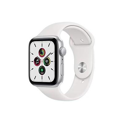 限定価格New Apple Watch SE (GPS, 44mm) - Silver Aluminum Case with White Sport Band送料無料