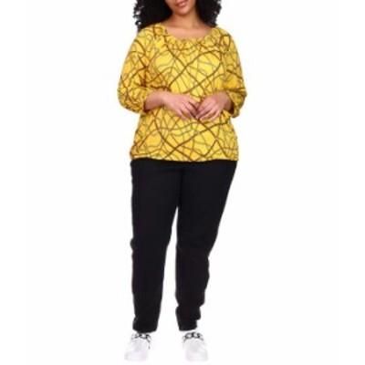 マイケルコース レディース シャツ トップス Plus Size Logo Chain Peasant Top Buttercup