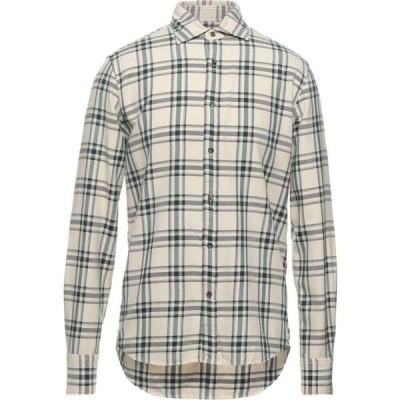 デペール DEPERLU メンズ シャツ トップス Checked Shirt Ivory