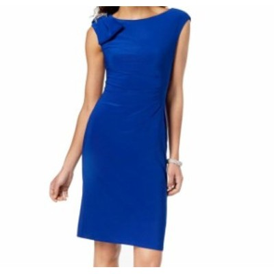 Jessica Howard ジェシカハワード ファッション ドレス Jessica Howard NEW Blue Womens Size 6 Embellished Bow Sheath Dress