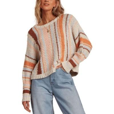 ビラボン Billabong レディース ベアトップ・チューブトップ・クロップド ニット・セーター トップス Easy Going Cotton Cropped Sweater Sunset