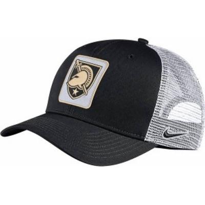 ナイキ メンズ 帽子 アクセサリー Nike Men's Army West Point Black Knights Classic99 Trucker Army Black Hat -
