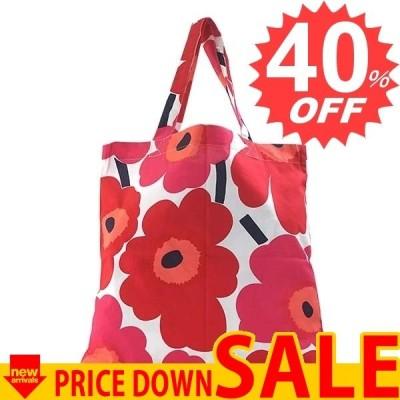 マリメッコ バッグ トートバッグ MARIMEKKO PIENI UNIKKO 67572 PIENI UNIKKO COTTON BAG 1 WHITE RED  100% COTTON  比較対照価格4,860 円