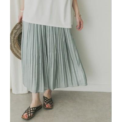 KBF+ シャイニープリーツスカート
