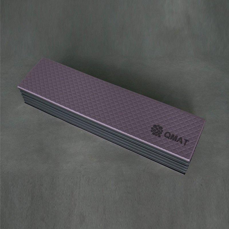 QMAT-紫芋/灰 最受好評暢銷款無毒無味無膠雙色雙面止滑可水洗