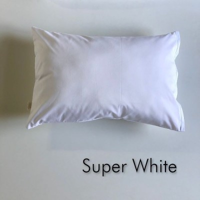 全18色 Sサイズ 枕カバー【スーパーホワイト】白/ピロケース/35cm×50cm/無地/ポイント消化♪