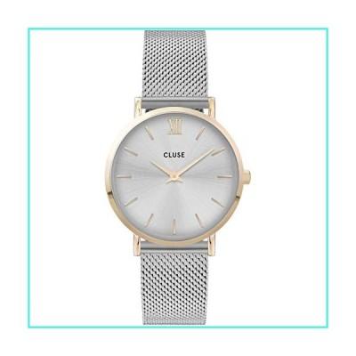 【新品】Cluse Women's Minuit 33mm Steel Bracelet & Case Quartz Silver-Tone Dial Analog Watch CW0101203015(並行輸入品)