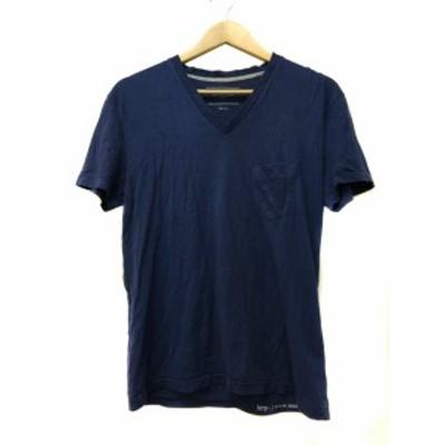 【中古】ユナイテッドアローズ UNITED ARROWS Tシャツ Vネック プルオーバー 半袖 SMALL 紺 ネイビー メンズ