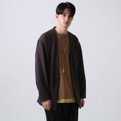ティーケー タケオ キクチ tk.TAKEO KIKUCHI ノーカラージャカーデ (ダークパープル)