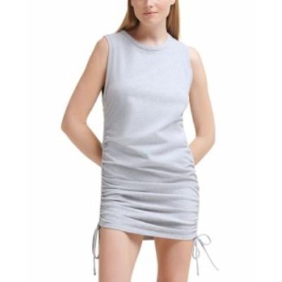 カルバンクライン レディース ワンピース トップス Cinched-Side Sleeveless Dress Pearl Grey Heather
