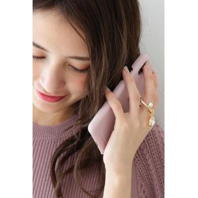 【プロポーション ボディドレッシング】 キラリングスタンドスマホケース iPhoneX/XS レディース ピンク − PROPORTION BODY DRESSING