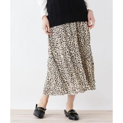 スカート 【M-L】ワッシャープリーツラップスカート