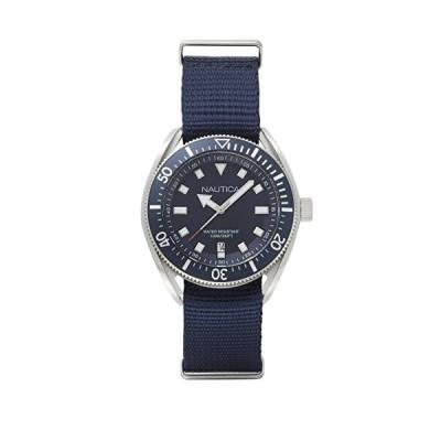 Nautica Watch NAPPRF001 Portofino Analog, Water Resistant, Date Function, Nylon Strap, Buckle Closure, Blue(輸入品)