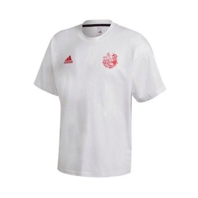 アディダス adidas CAPTSUBA Tシャツ サッカーシャツ キャプテン翼コラボレーションアイテム 14694-GK3443(ホワイト/パワーピンク)