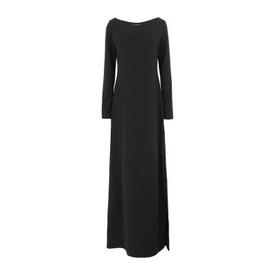 FISICO ロングワンピース&ドレス ブラック M ポリエステル 95% / ポリウレタン 5% ロングワンピース&ドレス