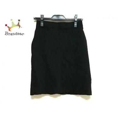 プラステ PLS+T(PLST) スカート サイズ2 M レディース 黒 ニット  スペシャル特価 20210313