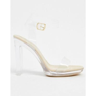 トリュフコレクション Truffle Collection レディース サンダル・ミュール シューズ・靴 clear barely there heeled sandal