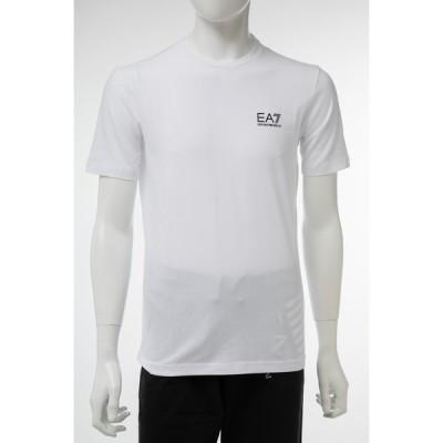 アルマーニ エンポリオアルマーニ Tシャツ 半袖 丸首 クルーネック メンズ 3GPT52 PJM5Z ホワイト Emporio Armani EA7