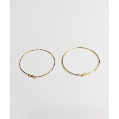 Newport / Gold Felled pierce WOMEN アクセサリー > ピアス(両耳用)
