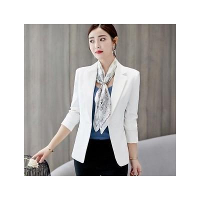 テーラードジャケット レディース ブレザー ホワイト  HCYB014