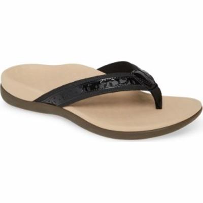 バイオニック VIONIC レディース ビーチサンダル シューズ・靴 Casandra Flip Flop Black