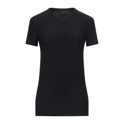 ジョルジオ アルマーニ GIORGIO ARMANI T シャツ ブラック M コットン 82% / ポリウレタン 18% T シャツ