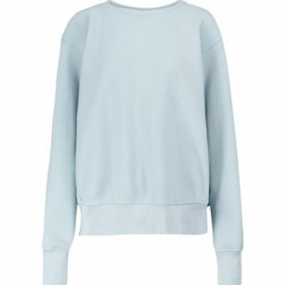 レス ティエン Les Tien レディース スウェット・トレーナー トップス Cotton fleece sweatshirt Dusty Blue