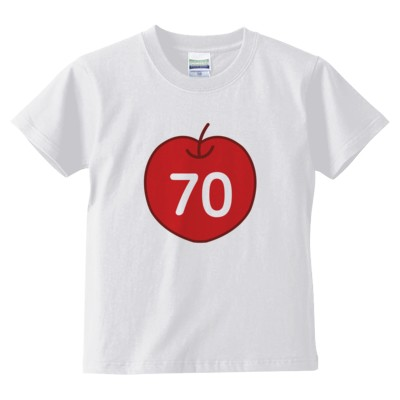 70cleam(キッズTシャツ)(カラー : ホワイト, サイズ : 110)