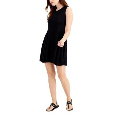 スタイルアンドコー レディース ワンピース トップス Petite Sleeveless Mini Dress