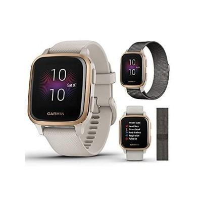 【送料無料】Garmin Venu Sq Music GPS Fitness Smartwatch Extra Style Band Bundle   Inclu