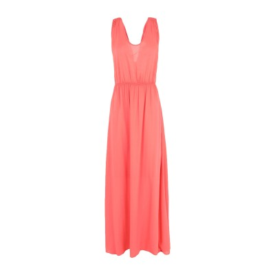 EMMA ロングワンピース&ドレス コーラル XS レーヨン 100% ロングワンピース&ドレス