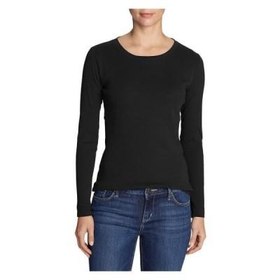 レディース 衣類 トップス Eddie Bauer Women's Favorite Long-Sleeve Crewneck T-Shirt Plus Tシャツ