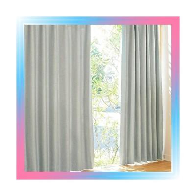 2枚入 幅100×丈185cm/カジュアルグレー パステル 遮光カーテン